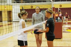Girls' Volleyball Sportsmanship after Game